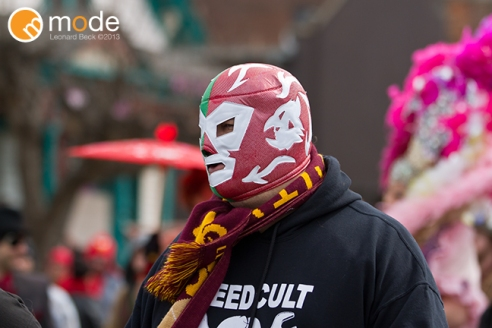 2013 Marche De Nain Rouge Down Town Detroit Michigan.