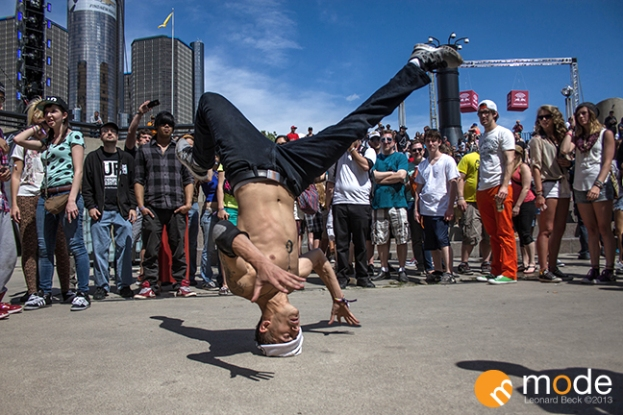 Break Dancer Performing at Movement Electronic Festival in Detroit