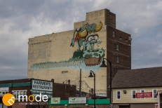 Art murals in Eastern Market Detroit MI