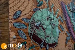 Art murals in Eastern Market Detroit MI