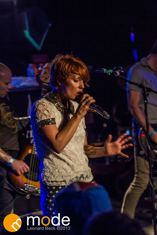 Flyleaf performs in Flint Michigan.