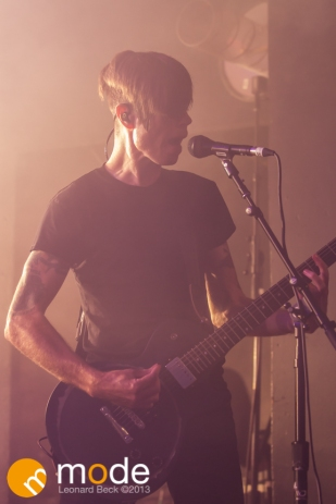 Guitarist JADE PUGET of AFI performs in Detroit Michigan on Sept 13th 2013