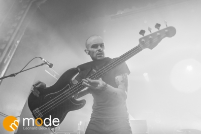 Bassist HUNTER BURGAN of AFI performs in Detroit Michigan on Sept 13th 2013
