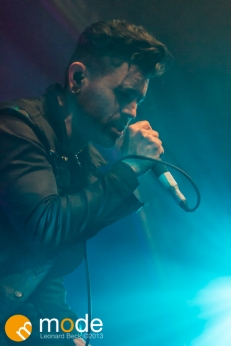 Vocalist DAVEY HAVOK of AFI performs in Detroit Michigan on Sept 13th 2013
