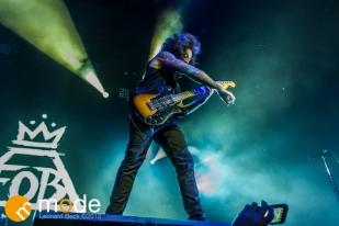 Guitarist JOE TROHMAN of Fall Out Boy performs at the Palace of Auburn Hills Michigan on Sept 14th 2013