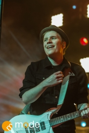 Vocalist PATRICK STUMP of Fall Out Boy performs at the Palace of Auburn Hills Michigan on Sept 14th 2013