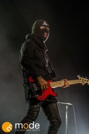 Bassist PETE WENTZ of Fall Out Boy performs at the Palace of Auburn Hills Michigan on Sept 14th 2013