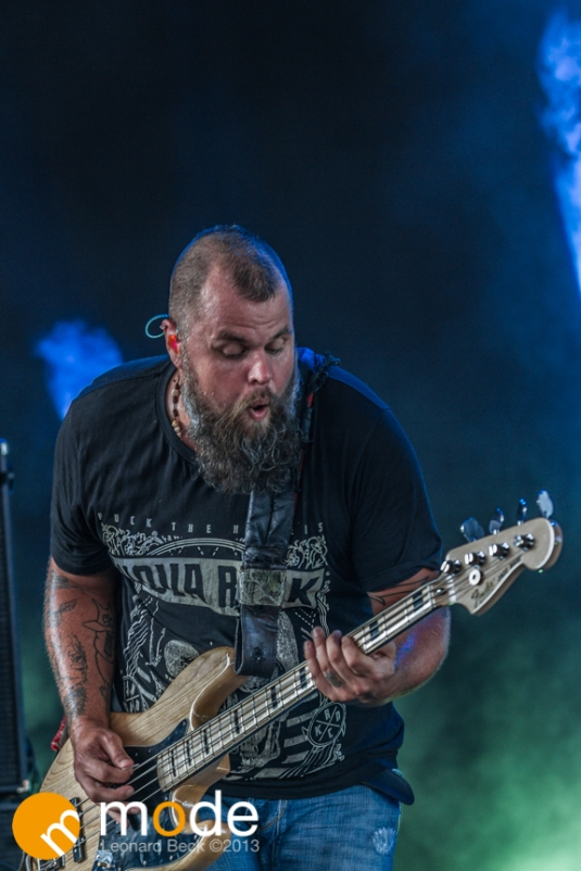 HIM performing on Monster Energy Rock Allegiance Tour at Freedom hill in Sterling Heights Michigan August 28th 2013