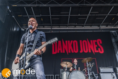 Danko Jones Performs at RockStar Energy UPROAR Festival in Clarkston Michigan at DTE Energy Music Theater.