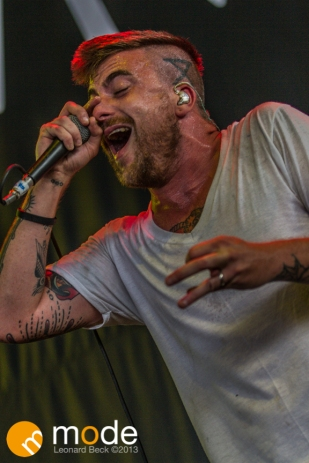 CIRCA SURVIVE Performs at RockStar Energy UPROAR Festival in Clarkston Michigan at DTE Energy Music Theater.
