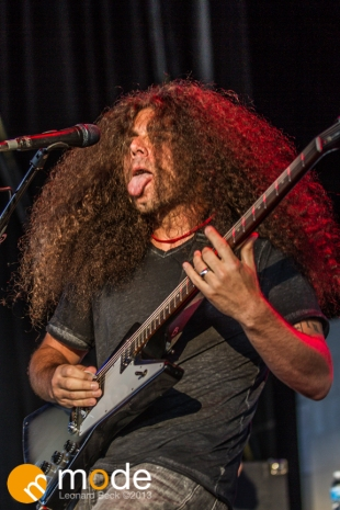 Coheed and Cambria Performs at RockStar Energy UPROAR Festival in Clarkston Michigan at DTE Energy Music Theater.