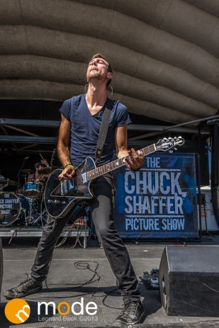 The Chuck Shaffer Picture Show performs at RockStar Energy UPROAR Festival in Clarkston Michigan at DTE Energy Music Theater.