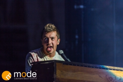 Vocalist TYLER JOSEPH of Twenty One Pilots performs at the Palace of Auburn Hills Michigan on Sept 14th 2013