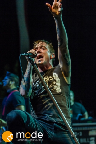 Billy Talent performs at Freedom Hill Sterling Heights Michigan on Oct 05 2013