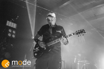 Guitarist STEVE WHITE of KMFDM performing at Magic Stick in Detroit Michigan on Oct 26th 2013