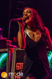 Vocalist BEC HOLLCRAFT of Stars In Stereo performs at the Fillmore in Detroit Michigan on Oct 12th 2013