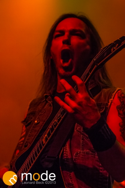 Guitarist MICHAEL PAGET of Bullet For My Valentine performs at the Fillmore in Detroit Michigan on Oct 12th 2013