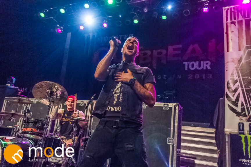 Vocalist JAMES CLARK of Throw The Fight performs at the Fillmore in Detroit Michigan on Oct 12th 2013