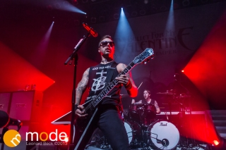Vocalist MATTHEW TUCK of Bullet For My Valentine performs at the Fillmore in Detroit Michigan on Oct 12th 2013