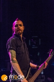Bassist FROGS MCCORMICK of Stars In Stereo performs at the Fillmore in Detroit Michigan on Oct 12th 2013