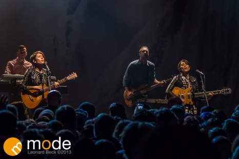 Tegan and Sara performs in Detroit Michigan on Dec 11th 2013