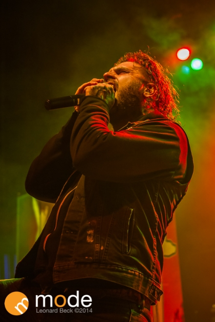 Vocalist CONNOR GARRITTY of All Hail The Yeti performs at Royal Oak Music Theatre in Michigan on Jan 14th 2014
