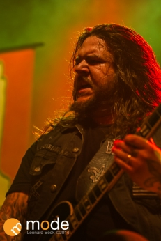 Guitarist CRAW NEQUENT of All Hail The Yeti performs at Royal Oak Music Theatre in Michigan on Jan 14th 2014