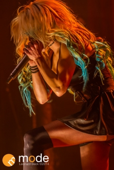 Vocalist HEIDI SHEPHERD of Butcher Babies performs at Royal Oak Music Theatre in Michigan on Jan 14th 2014