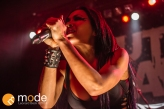 Vocalist CARLA HARVEY of Butcher Babies performs at Royal Oak Music Theatre in Michigan on Jan 14th 2014