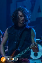 Vocalist/Rhythm Guitar BLAKE ALLISON of Devour The Day performs at Royal Oak Music Theatre in Michigan on Jan 14th 2014