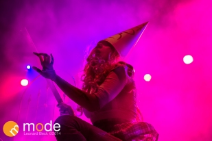 Vocalist MARIA BRINK of In This Moment performs at Royal Oak Music Theatre in Michigan on Jan 14th 2014