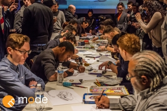 Middlecott Sketch Battle Experiment 2014 in Detroit Michigan on January 17th 2014