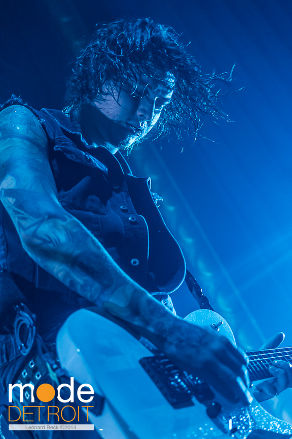Asking Alexandria perform at the Royal Oak Music Theatre on March 29th 2014
