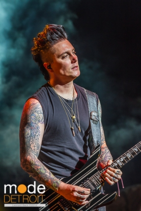 Avenged Sevenfold performing at Rockstar Energy Drink Mayhem Festival in Clarkston Michigan at DTE Energy Music Theatre on July 17th 2014