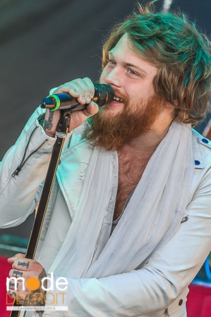 Asking Alexandria performing at Rockstar Energy Drink Mayhem Festival in Clarkston Michigan at DTE Energy Music Theatre on July 17th 2014