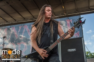 Cannibal Corpse performing at Rockstar Energy Drink Mayhem Festival in Clarkston Michigan at DTE Energy Music Theatre on July 17th 2014