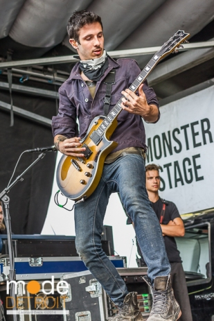 Crown The Empire performing at Vans Warped Tour in Auburn Hills Michigan at The Palace of Auburn Hills on July 18th 2014