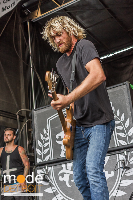 Parkway Drive performing at Vans Warped Tour in Auburn Hills Michigan at The Palace of Auburn Hills on July 18th 2014