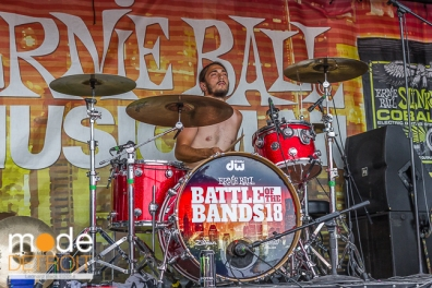 American Pinup performing at Vans Warped Tour in Auburn Hills Michigan at The Palace of Auburn Hills on July 18th 2014