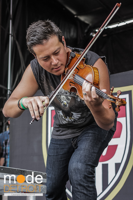 Yellowcard performing at Vans Warped Tour in Auburn Hills Michigan at The Palace of Auburn Hills on July 18th 2014