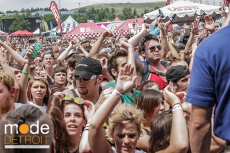Crowd during Yellowcard performance at Vans Warped Tour in Auburn Hills Michigan at The Palace of Auburn Hills on July 18th 2014