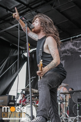 The Devil Wears Prada performing at Vans Warped Tour in Auburn Hills Michigan at The Palace of Auburn Hills on July 18th 2014