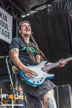 Less Than Jake performing at Vans Warped Tour in Auburn Hills Michigan at The Palace of Auburn Hills on July 18th 2014