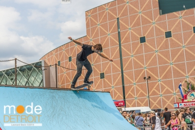 Skater at Vans Warped Tour in Auburn Hills Michigan at The Palace of Auburn Hills on July 18th 2014