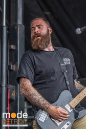 Four Year Strong performing at Vans Warped Tour in Auburn Hills Michigan at The Palace of Auburn Hills on July 18th 2014