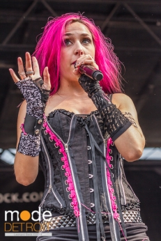 Icon For Hire performing at Vans Warped Tour in Auburn Hills Michigan at The Palace of Auburn Hills on July 18th 2014