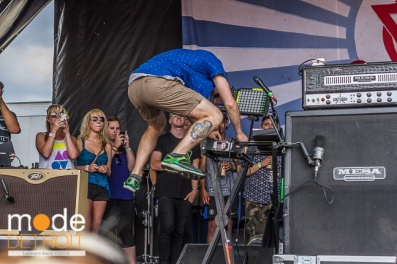 Enter Shikari performing at Vans Warped Tour in Auburn Hills Michigan at The Palace of Auburn Hills on July 18th 2014