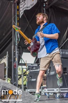 Enter Shikari performing at Vans Warped Tour in Auburn Hills Michigan at The Palace of Auburn Hills on July 18th 2014