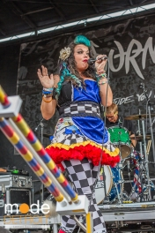 Beebs And Her Money Makers performing at Vans Warped Tour in Auburn Hills Michigan at The Palace of Auburn Hills on July 18th 2014
