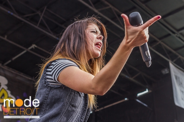 We Are The In Crowd performing at Vans Warped Tour in Auburn Hills Michigan at The Palace of Auburn Hills on July 18th 2014